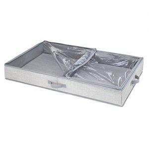 mDesign - rangement sous lit - 2 sections - gris (3)