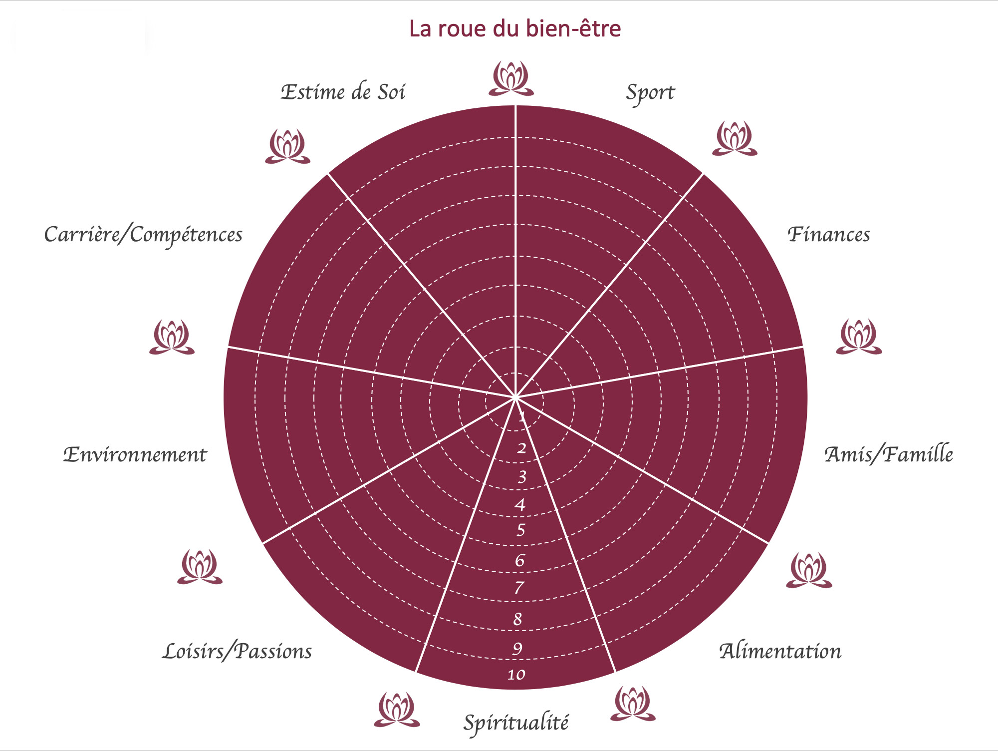 La roue du bien-être