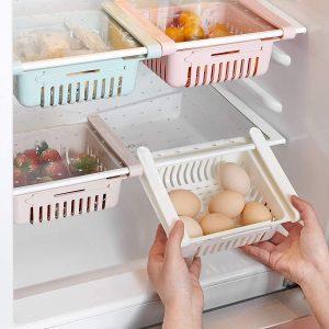 Organisateur escamotable pour frigo