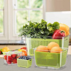 Luxear - Boîtes rangement frigo