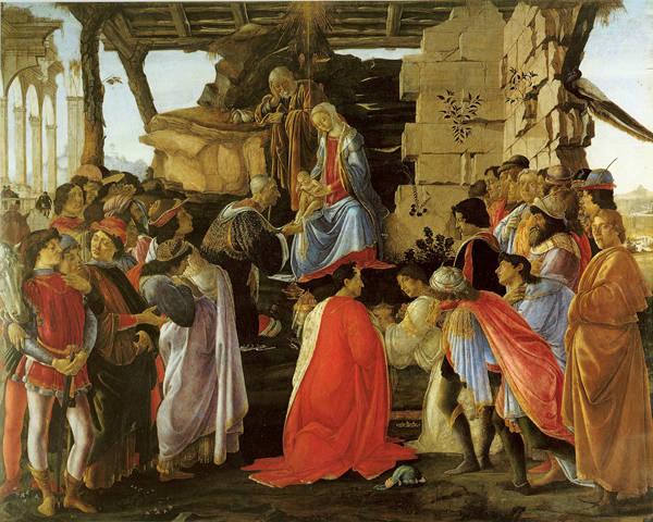 Adoration of the Magi Sandro Botticelli Nativity