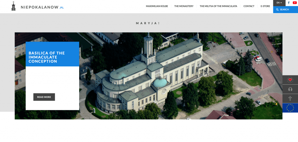 Basilica of the Immaculate Conception in Niepokalanow, Poland, the community founded by Saint Maximilian Kolbe.