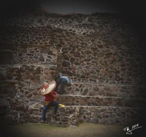 Trabajadores en Teotihuacán