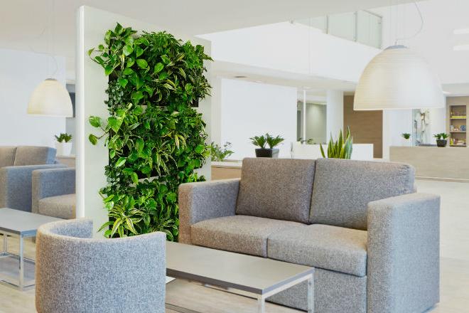 växtinredning rumsavdelare