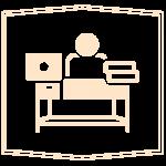 ikon arbetsplats
