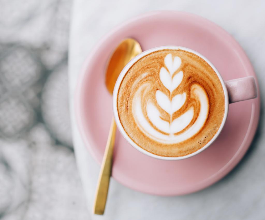 kaffe bild rosa