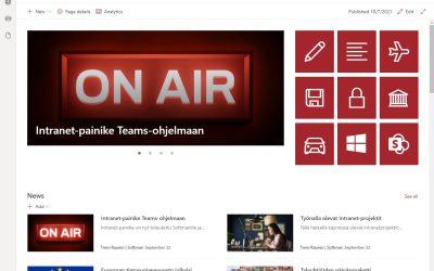Modern SharePoint – nykyaikaista ja tietoturvallista viestintää