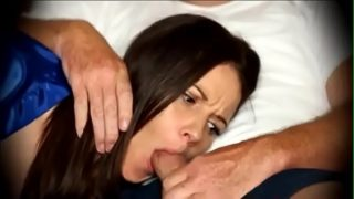 Mom forced to blowjob when sleeping on couch