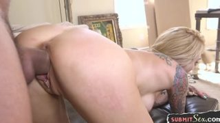 Restrained MILF sub fucked and whipped by maledom