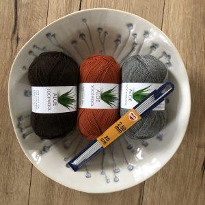 Aloe Sockwool fra Hjertegarn