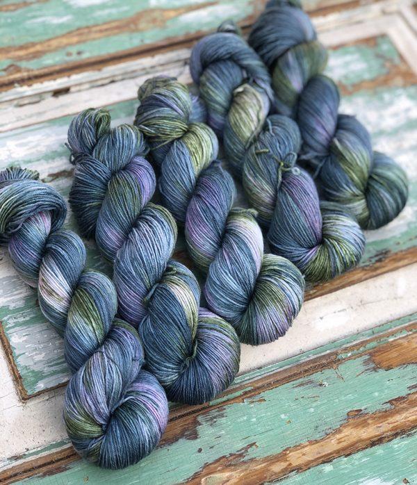 Silk/Merino håndfarvet