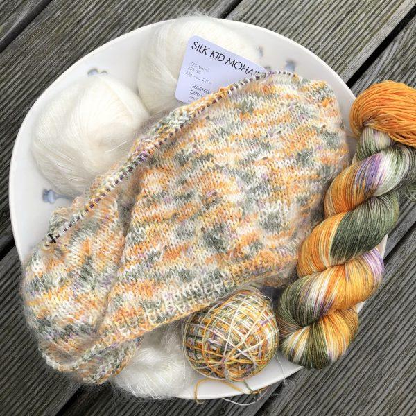 Håndfarvet silk/merino