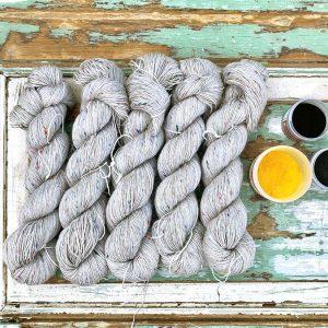 Tweed strømpegarn ufarvet