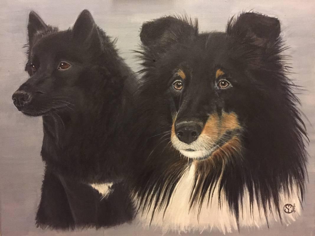 qäisa och blackie porträtt