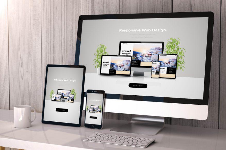 Visning av moderne nettside som kan utvikles av Solid markedsføring