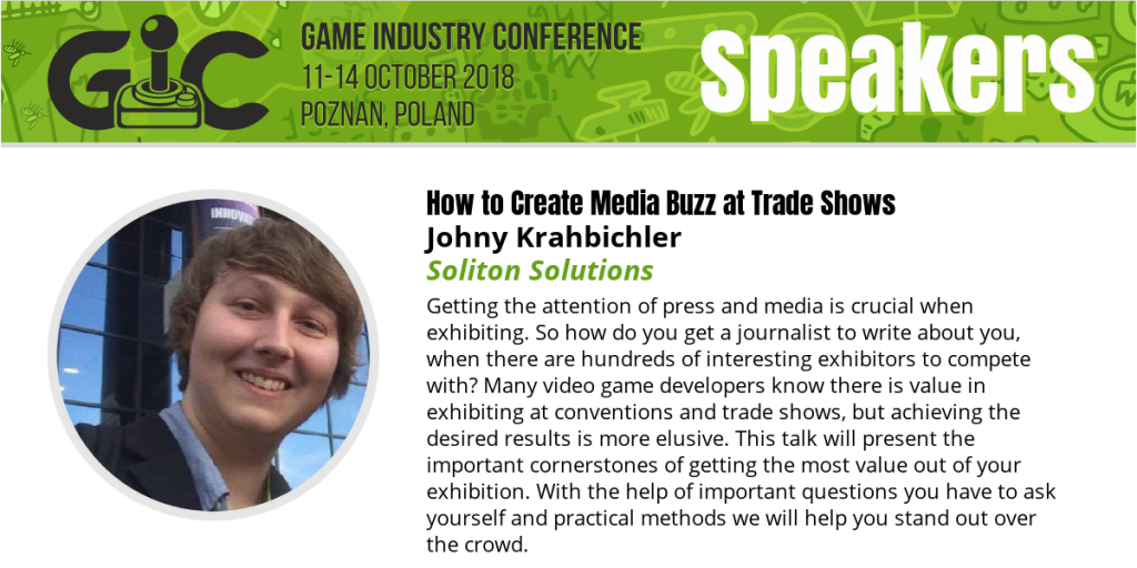 Come See Our Talk at the 2018 GIC in Poznan, Poland