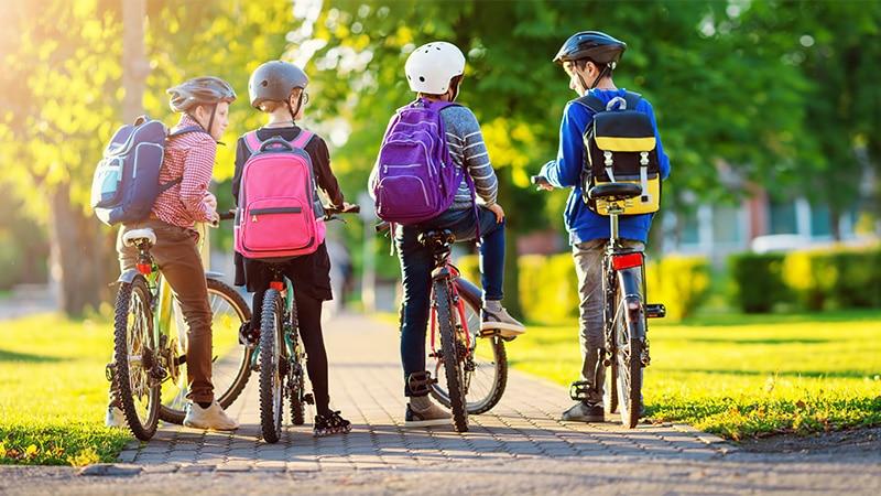 Cykelträning för barn