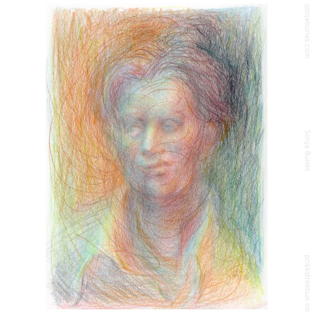 In A Haze Sonja Bunes Color Pencil Drawing A4 2020