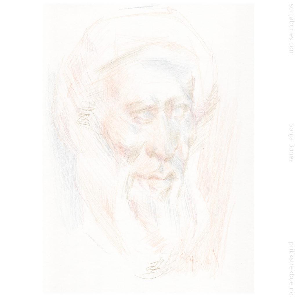 Mild Man Sonja Bunes Color Pencil Drawing A4 2020