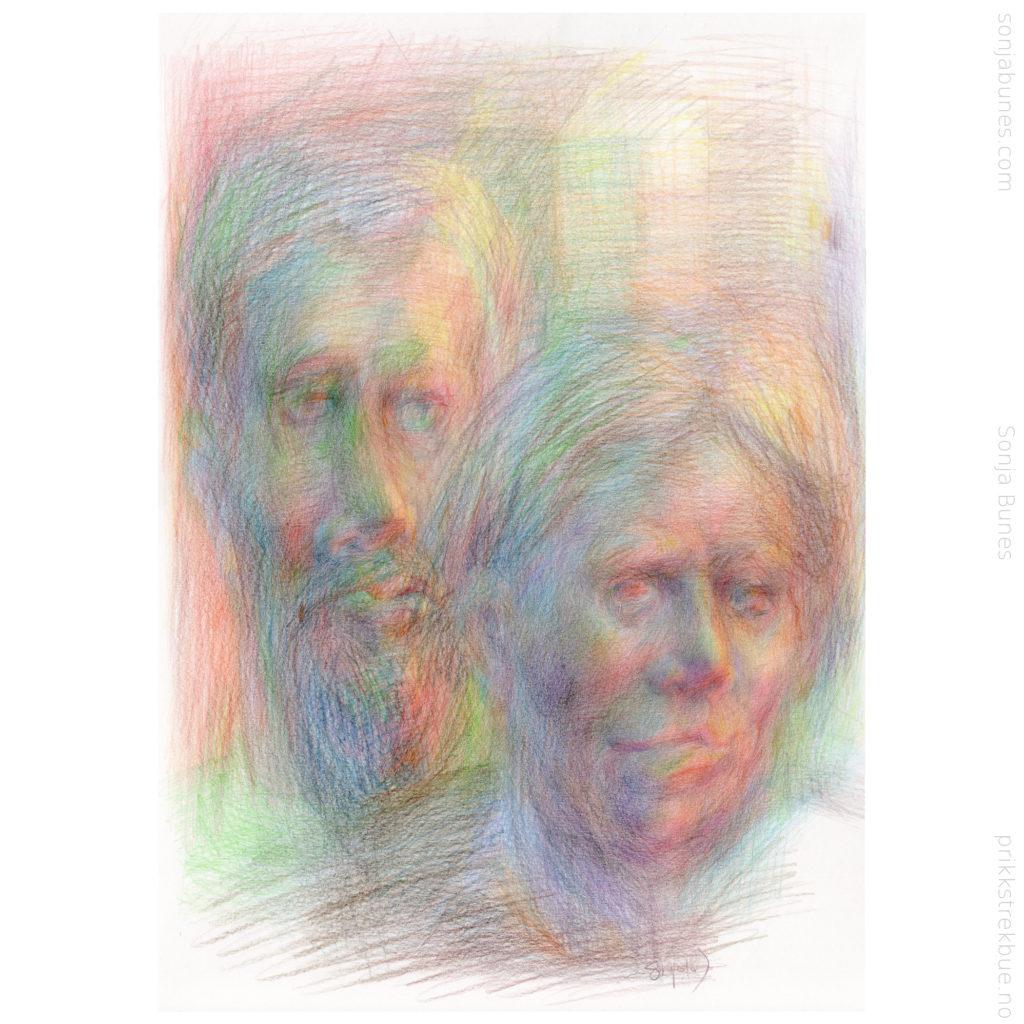 That Boring Party Sonja Bunes Color Pencil Drawing A3 2020