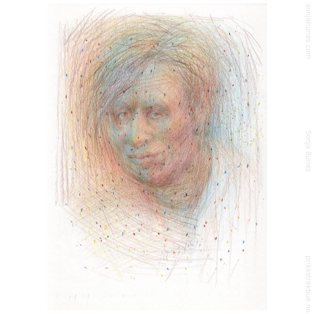 Virus Sonja Bunes Color Pencil Drawing A4 2020