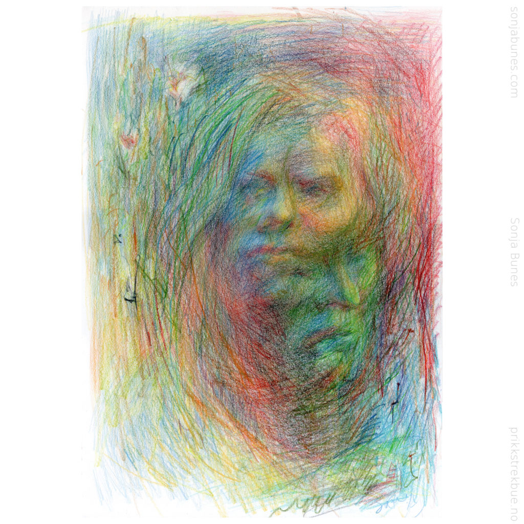 Sonja Bunes 2020 Breaking Free A3 Color Pencil Drawing