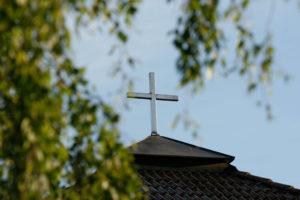 Sörbykyrkan exteriör korset