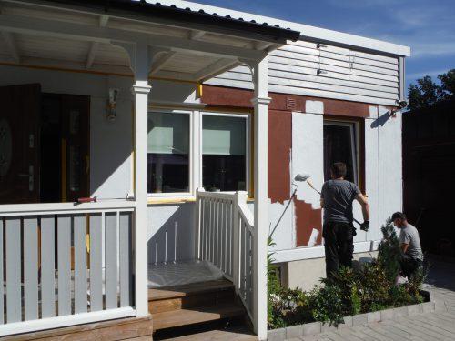 målning hus vitt