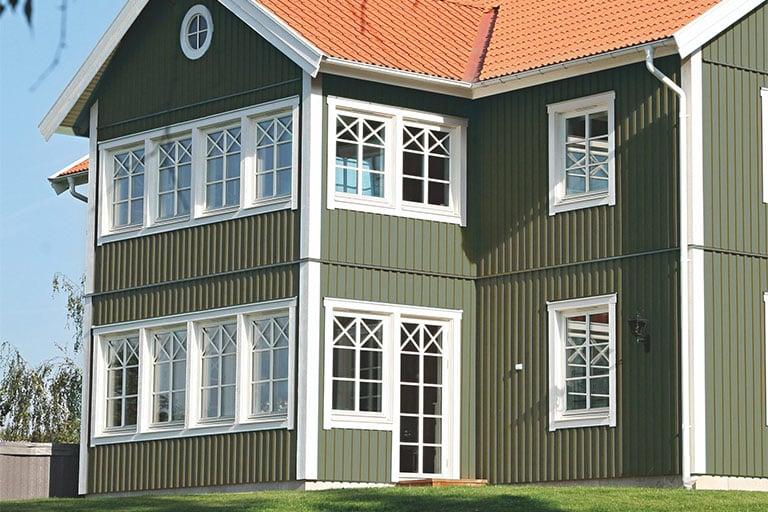 grön fasad