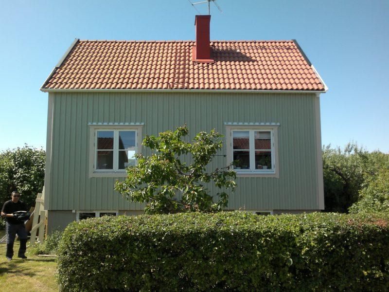 fasadrenovering småhus
