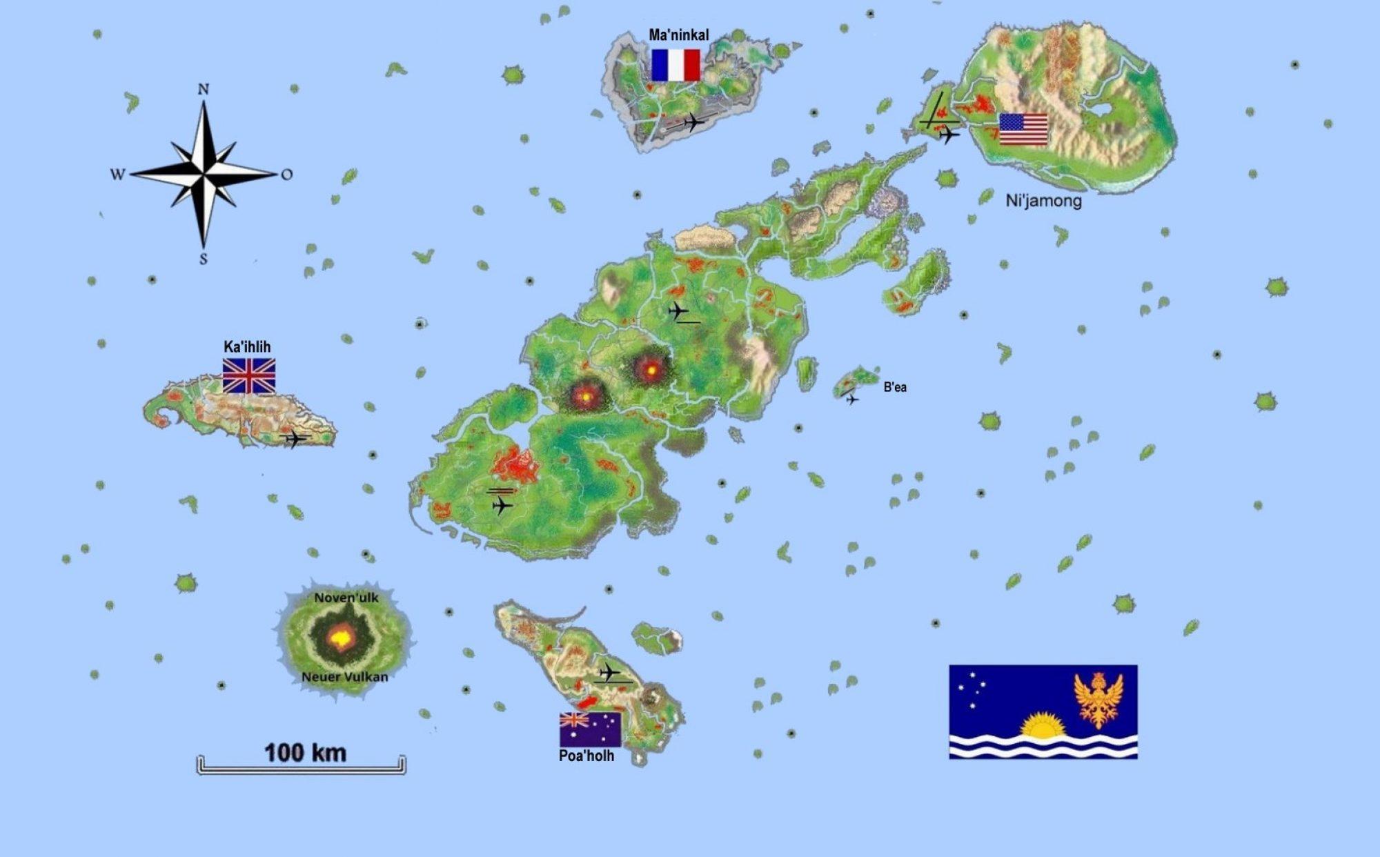 Soulebda eine Insel im Pazifik