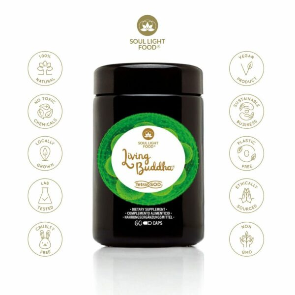 Living Buddha Soul Light Food high vibrational supplement to raise frequency, health and happiness.