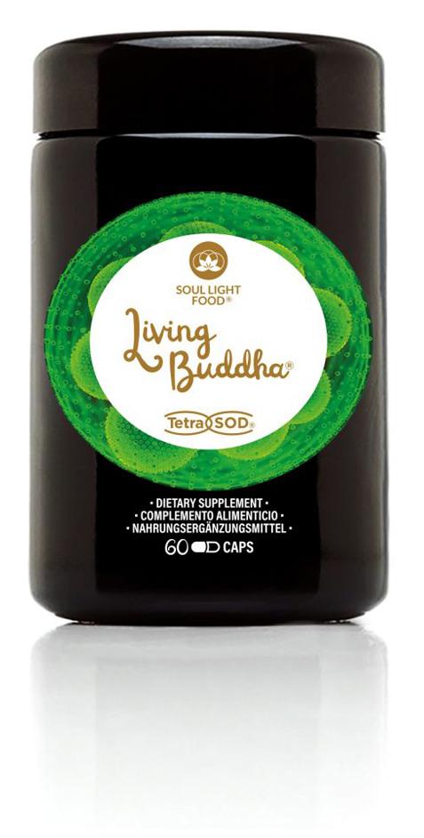 Living Buddha high vibrational vegan food supplement features