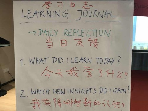 China 2018: Keeping a Learning Journal as Part of the Training Process