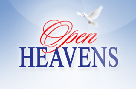 OPEN HEAVEN 22 JANUARY 2021 FRIDAY: RESTITUTION