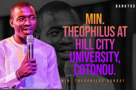 Min. Theophilus Sunday Ministration @ Hill City, Cotonou, Benin Republic
