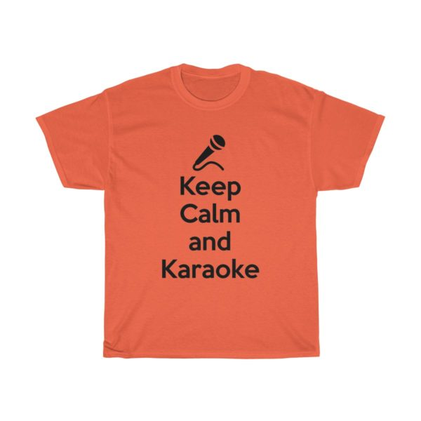 Keep Calm and Karaoke Unisex Heavy Cotton Tee 2