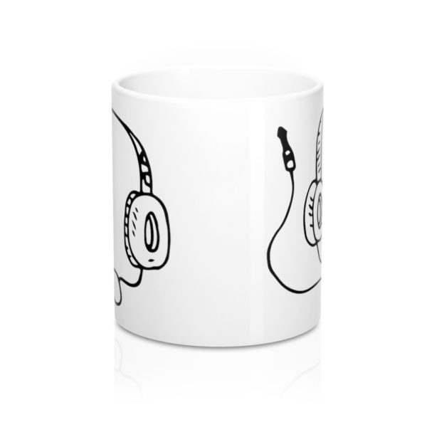 Headphones Mug 11oz 2