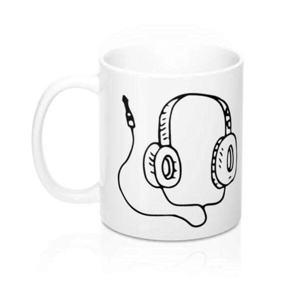 Headphones Mug 11oz 3