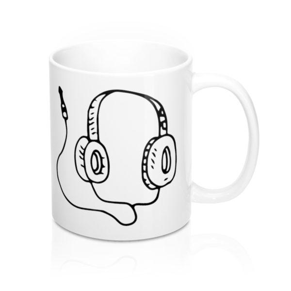 Headphones Mug 11oz 1