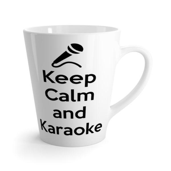Keep Calm and Karaoke Latte mug 4