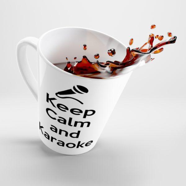 Keep Calm and Karaoke Latte mug 1