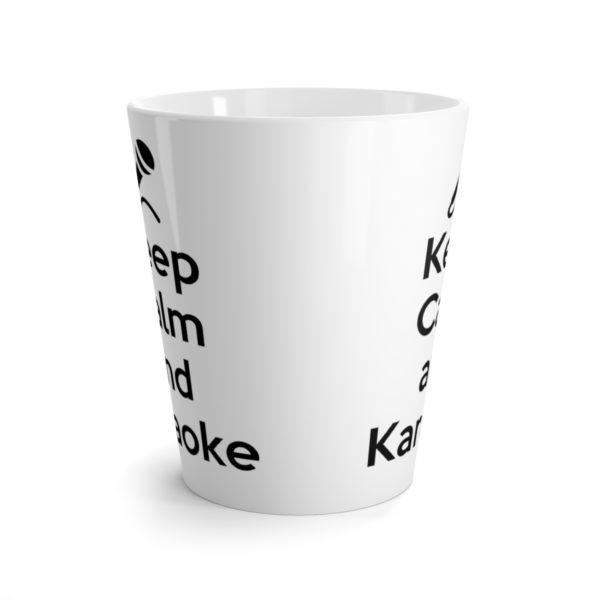 Keep Calm and Karaoke Latte mug 2