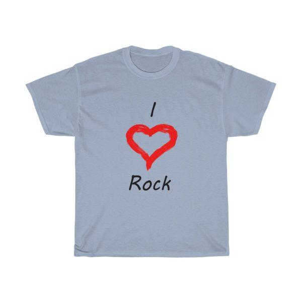 I Love Rock Unisex Heavy Cotton Tee 12