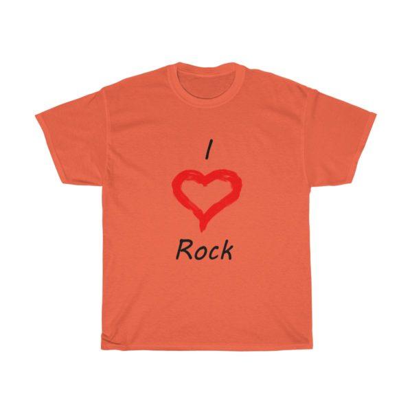 I Love Rock Unisex Heavy Cotton Tee 2