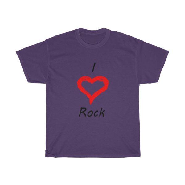 I Love Rock Unisex Heavy Cotton Tee 15
