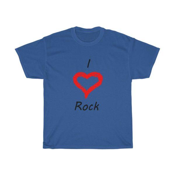 I Love Rock Unisex Heavy Cotton Tee 13