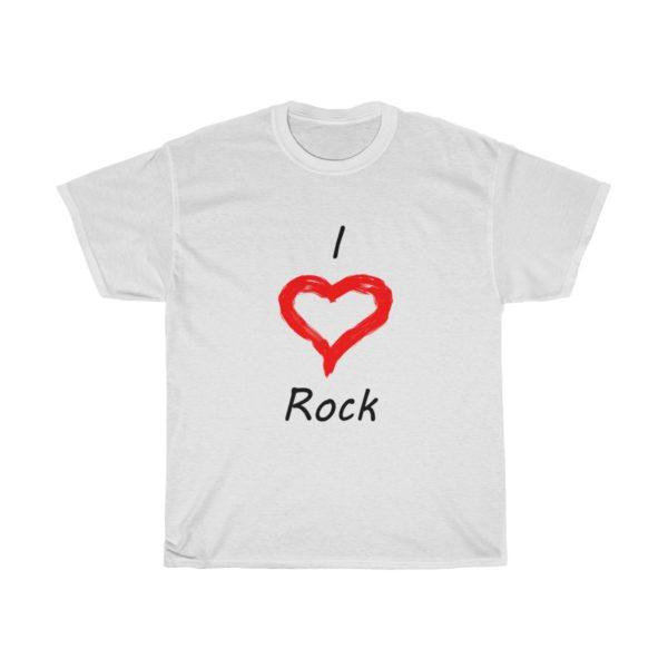 I Love Rock Unisex Heavy Cotton Tee 1