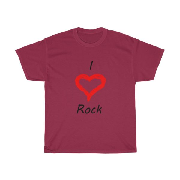 I Love Rock Unisex Heavy Cotton Tee 16