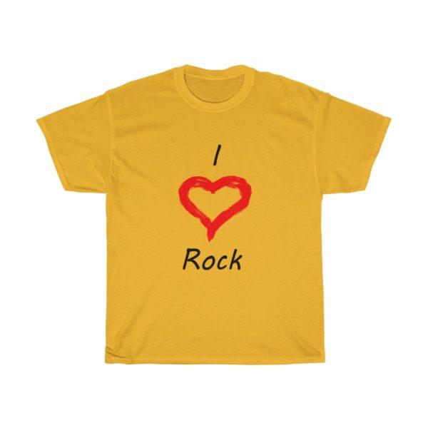 I Love Rock Unisex Heavy Cotton Tee 5